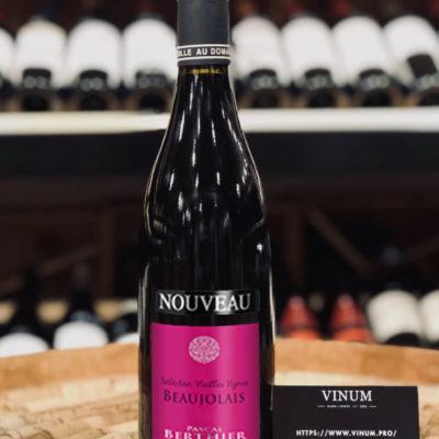 VINUM - Pascal Berthier Beaujolais Nouveau Sélection Vieilles Vignes 2020