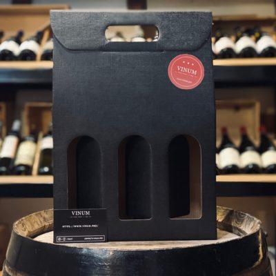VINUM - Boîte 3 Bouteilles Noire