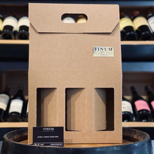 VINUM - Boîte 3 Bouteilles Micro-Cannelures