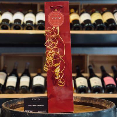 VINUM - Sac 1 Bouteille Bordeaux Brillant Gloss