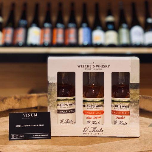 VINUM - Miclo Coffret Single Malt Welche's Whisky 3 x 20cl