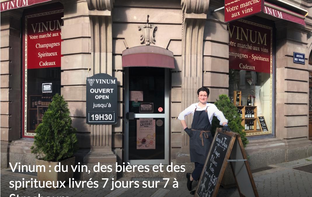 VINUM : du vin, des bières et des spiritueux livrés 7 jours sur 7 à Strasbourg